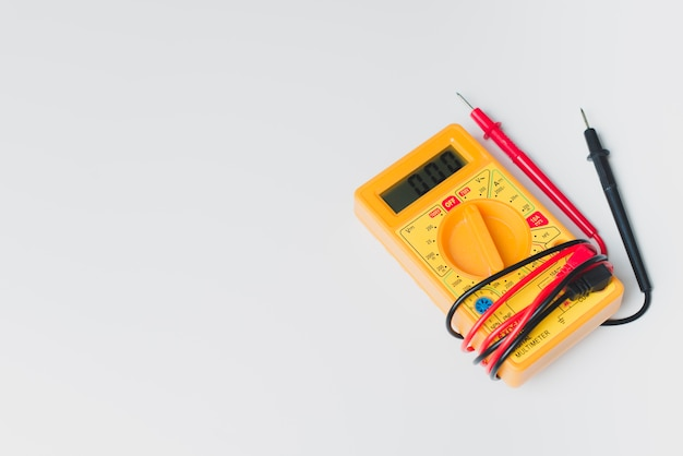Multimeter on white background