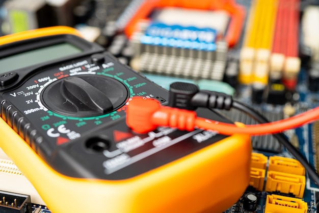 Multimeter with main board, maintenance, repairing and checking computer