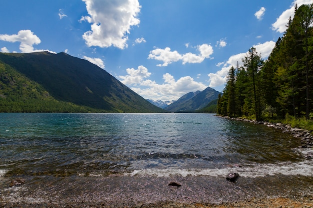 Multinsky lakes in altai mountains.