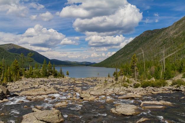 Multinsky lakes in altai mountains.