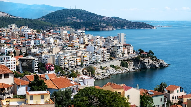 Multiple buildings located in kavala, greece