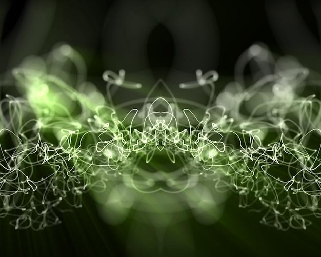 複数の緑の稲妻線