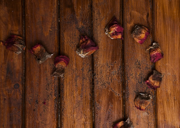 Multipurpose background of dried roses