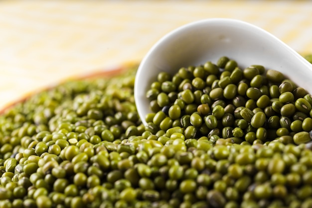 Mung beans on the table