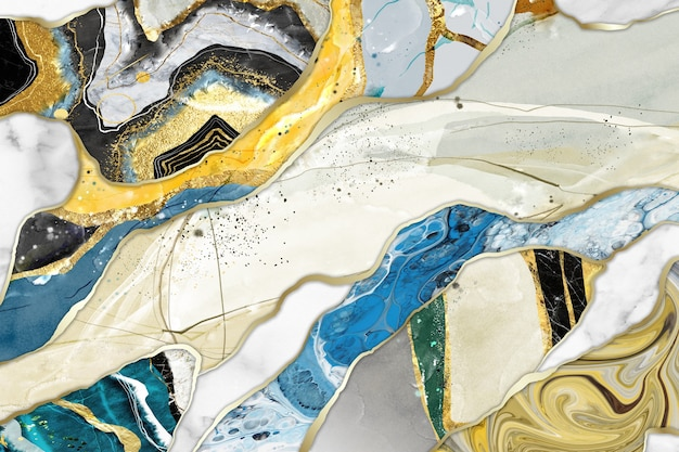 Mural wallpaper for home decor  resin geode and abstract art functional art
