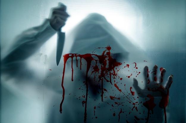 Murderer and knife