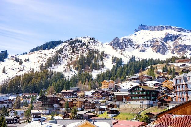Murren, jungfrau region, switzerland. Premium Photo