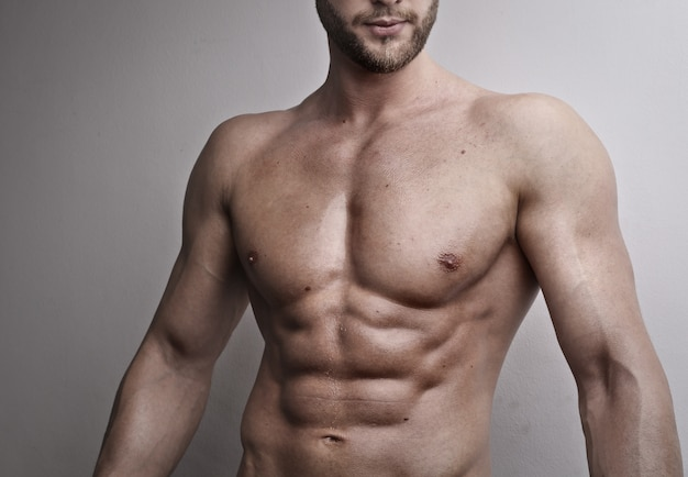 Muscled sporty torso