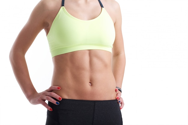 Muscular female abs