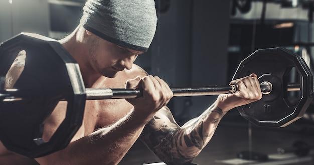 Muscular male bodybuilder