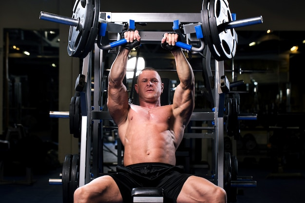 Muscular man in a gym