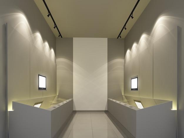Выставочный зал музея, 3d концепция