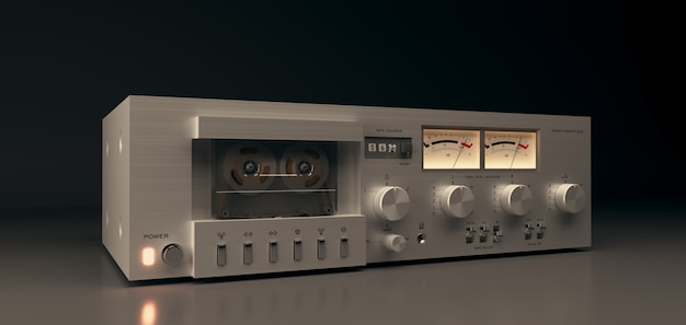 Music audio stereo equipment, cassette deck