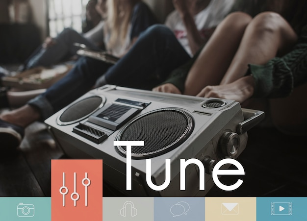 Music equalizer button multimedia icon