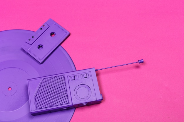 Music flat lay objects