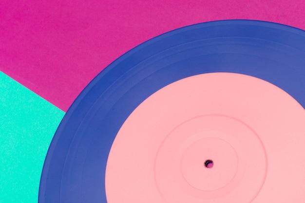 Music flat lay vinyl background