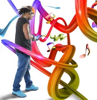 다채로운 파도의 음악