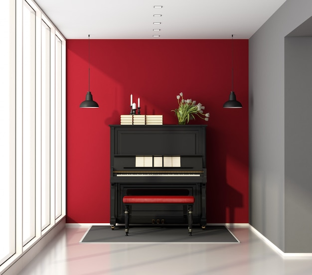 Music little room with piano