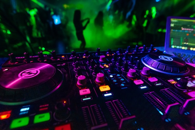 Music mixer dj controller board for professional mixing of electronic music
