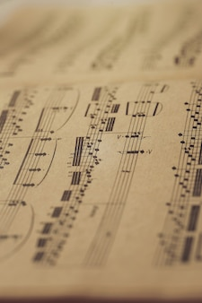 Music notes on scores