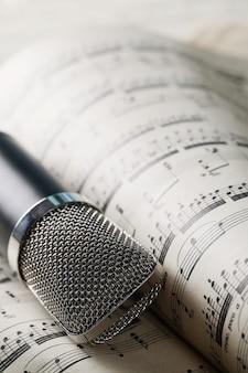 Music notes sheet