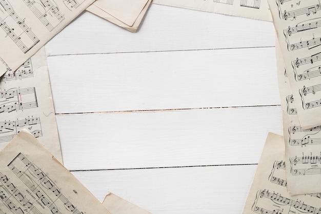 Foglio di note musicali