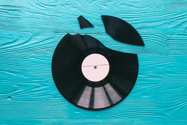 나무 배경 음악 레코드