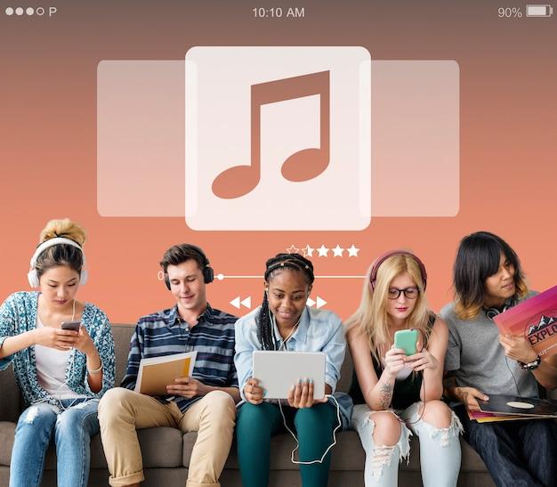 Концепция мультимедиа музыкальный видео плеер