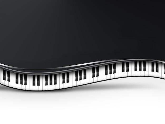 ピアノの鍵盤と音楽の背景