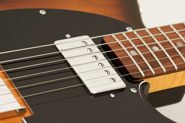 Musical instrument guitar microphone detail