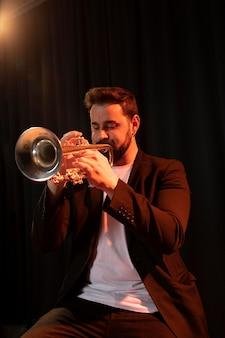 Musician celebrating jazz day