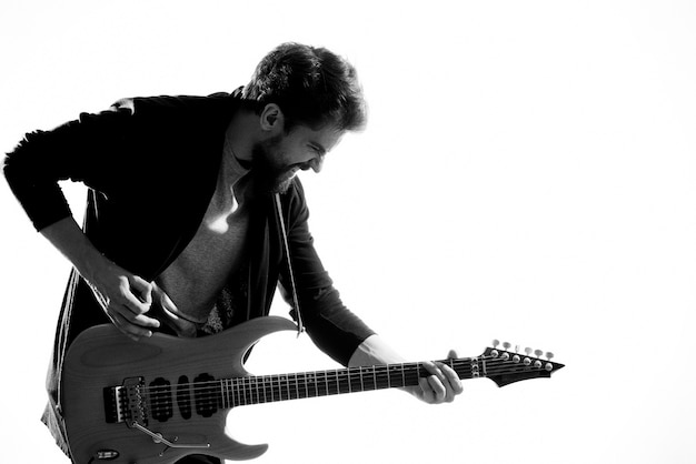 Musician with guitar rock