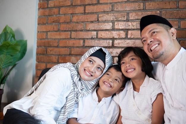Muslim family posing