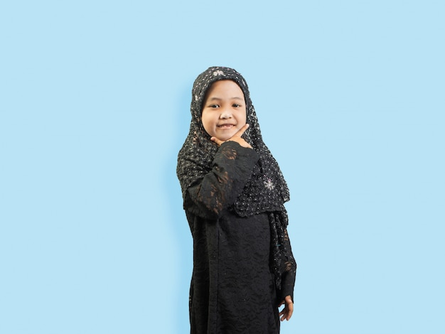 Muslim girl in a dress