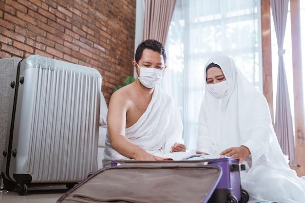 Muslim pilgrims wife and husband hajj and umrah