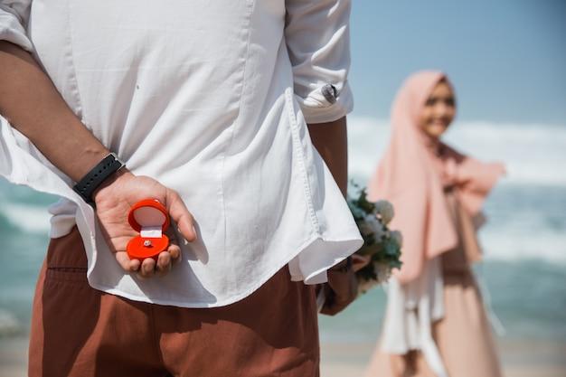 Muslim proposal concept