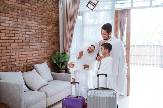 イスラム教徒のウムラと家族のメッカ巡礼
