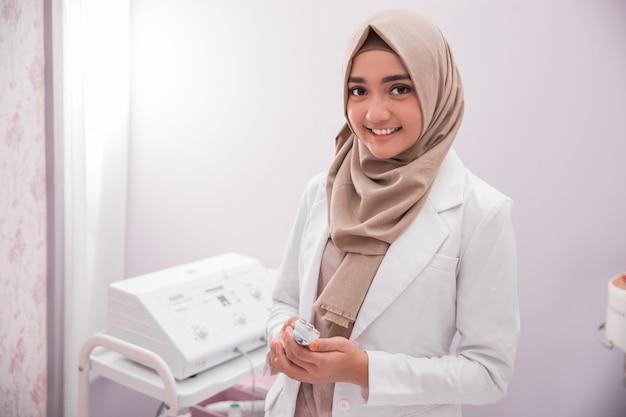 Muslim woman beautician doctor