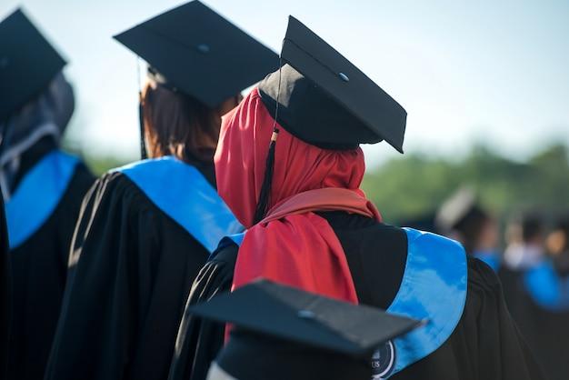 Muslim woman graduating