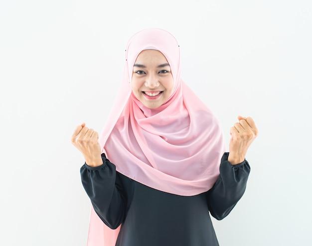 Muslim woman portrait half