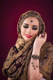 Muslim woman with nice jewellery