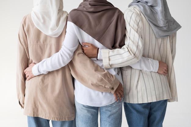Muslim women wearinghijabs close up