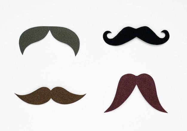 Mustache paper craft