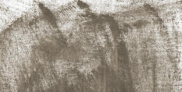 キャンバスに落ち着いた灰色のアクリル絵の具不規則な形のテクスチャ抽象的なバナーの背景