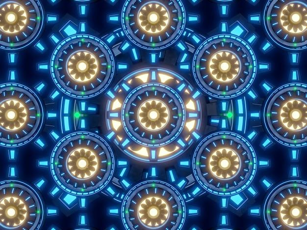 Mutiパワーエンジンコンセプトの背景3dレンダリング