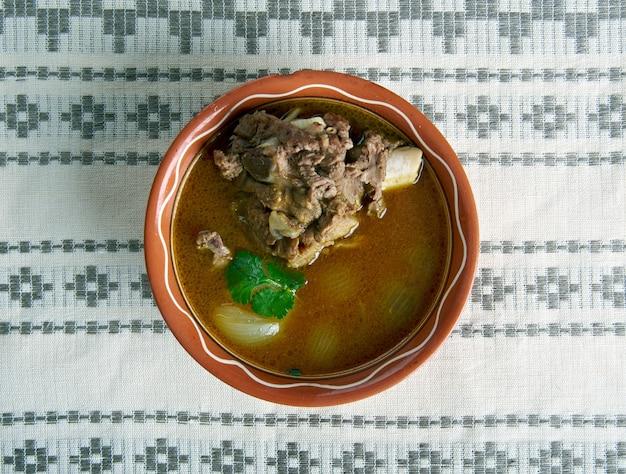 양고기 paya 전통 남아시아 음식