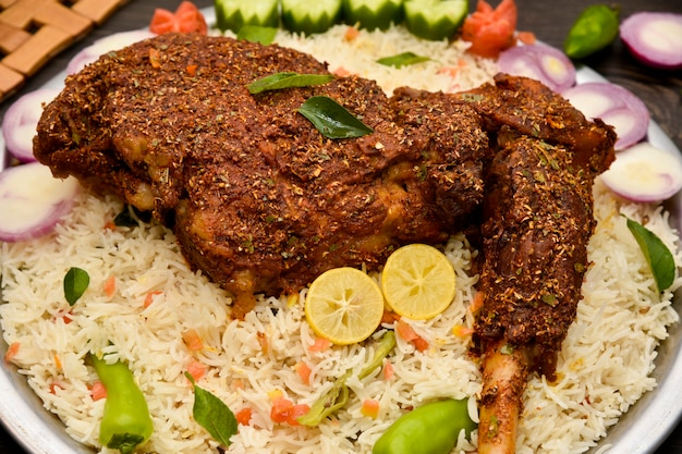 Mutton rost  with rice