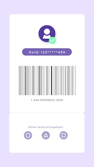 My barcode screen digital payment for smartphone