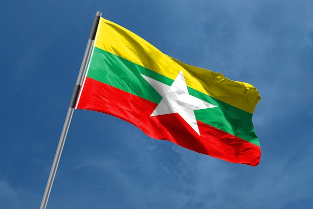 Myanmar flag | Premium Photo