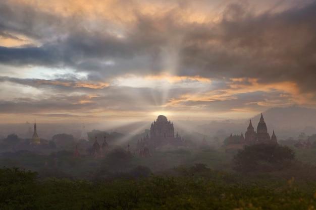 바간 고고학 지대의 미얀마 사원과 바간 세계 문화 유산의 사원